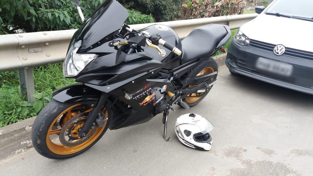 Acidente deixa motociclista ferido na BR-470 em Rio do Sul