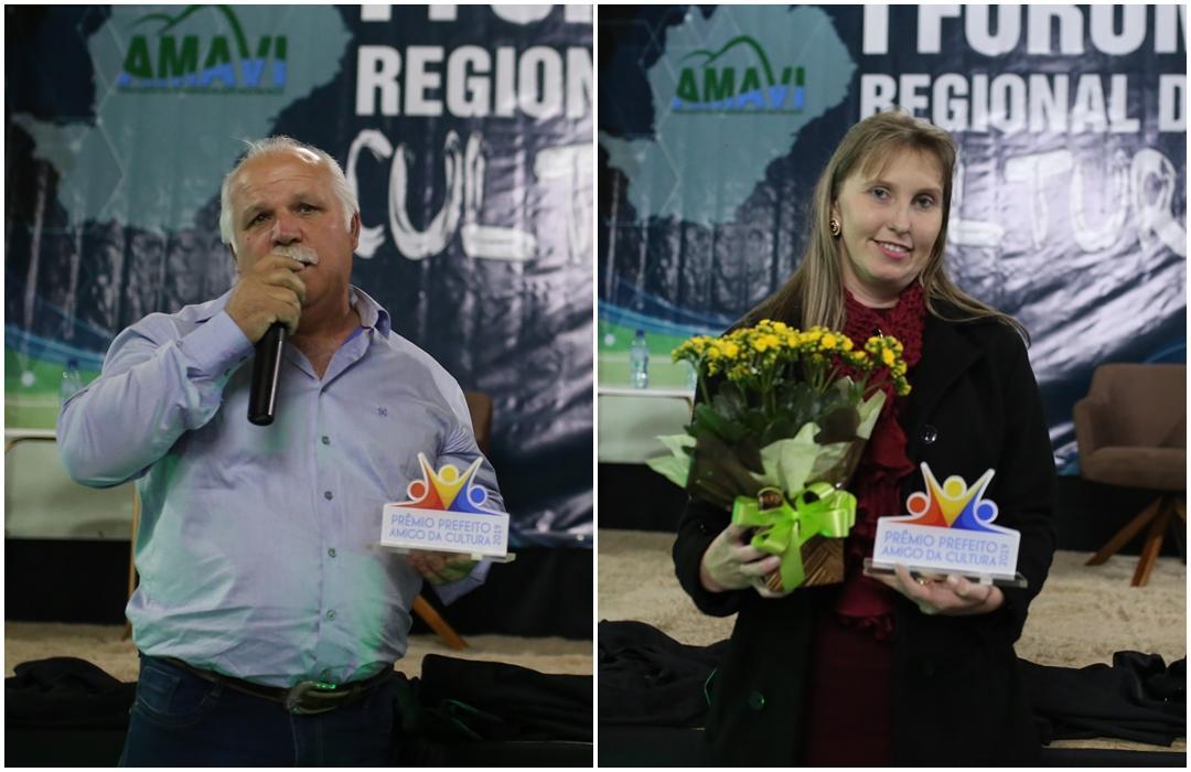 Prefeitos de Atalanta e Trombudo Central recebem Prêmio Amigo da Cultura