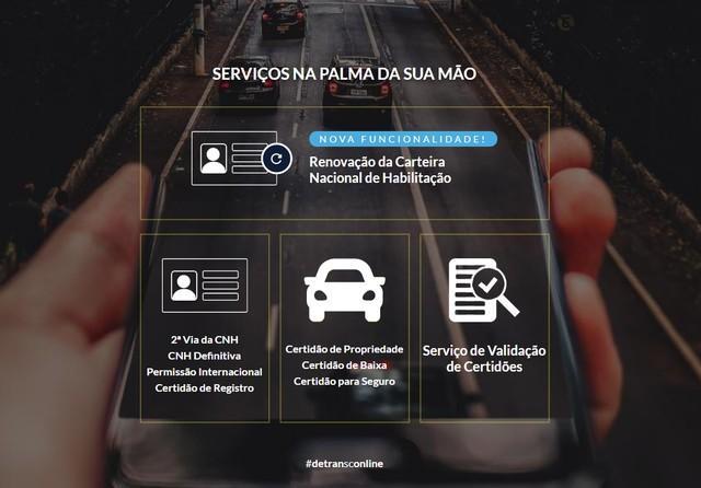 Detran de SC disponibiliza pedido de renovação de CNH pela internet