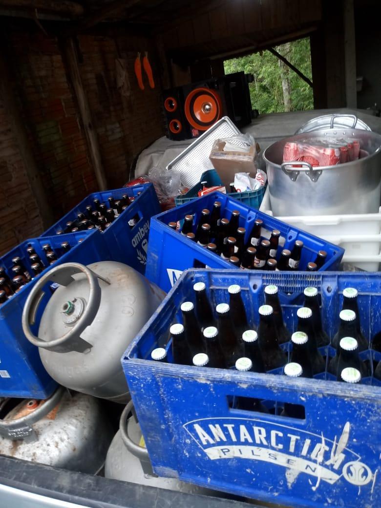 PM de Salete recupera objetos furtado