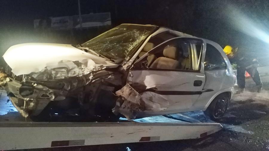 Acidente entre dois carros é registrado na BR-470 em Rio do Sul