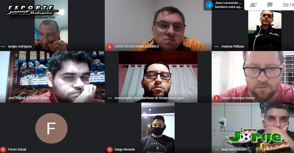 Dirigentes de Lontras e Rio do Sul, participam de reunião da LCF para retorno do Estadual de Futsal
