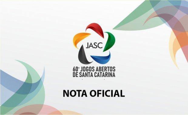 Jasc são cancelados oficialmente pela Fesporte