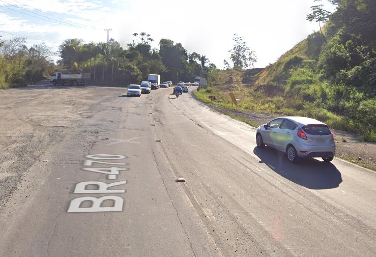 BR-470 fica interditada para detonação de rochas nesta quinta-feira em Gaspar